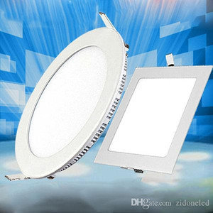 Ultra Thin LED Ceiling Recessed Panel Light Downlight Round Square 3W 9W 12W 18W Indoor lighting AC85-265V CE UL