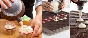 новая силиконовая выпечка горячая печь печенья Macaron Mat Sale 30-полость пресс-формы DIY коврик для выпечки печений Macaroon лист Giisu