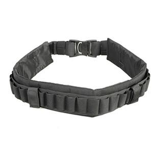 Adecuado para 27 Escopeta Shell Bandolier Belts Ammo Holder Belt Revista Bolsa Nylon ajustable Cintura