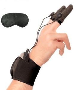 Электрическим током терапия любовь перчатки электро палец устанавливает секс-игрушки для пар взрослых игры стимуляции клитора массаж груди пенис