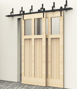 5/6 / 6.6ft Bypass Holz Scheunentor Hardware Arrow Style Gleitschiene Set Kit