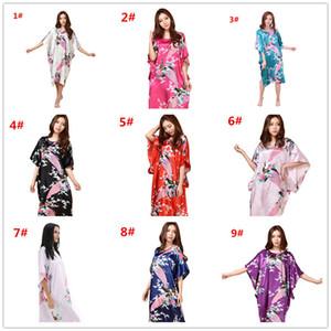 13colors Sexy Silk Nightgown Dress Elegant Women Butterfly Sleeves Silk Sleepwear Robe Casual Nightwear M030