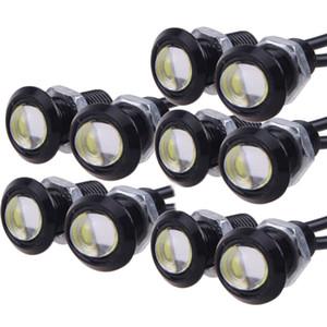 10X9 W 18mm 12 V Branco LEVOU Olho de Águia Luz Do Carro Nevoeiro DRL Daytime Reverso Estacionamento Luz de Sinalização CLT_00Q