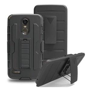 Hybrid Tri-Layer-Schutzhülle für LG G6 Stylo 3 / Stylus 3 Armor Ganzkörper-Stoßfestes Tough Shell mit Holster Gürtelclip Ständer