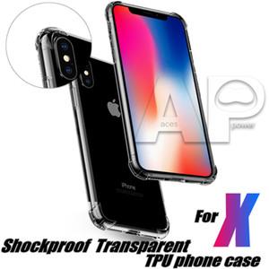 Pour Iphone 11 XR XS MAX Samsung S20 Ultra S9 Plus P30 Pro cas anti-choc arrière Couverture souple TPU cas de gel OPP Paquet