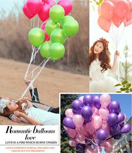 1.5g Pink Pearl Latex Balloon 9 Colori Gonfiabili Decorazioni di nozze Pallone d'aria Forniture per feste di buon compleanno Palloncini all'ingrosso