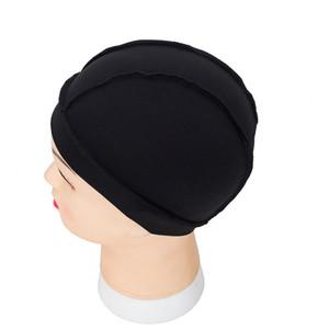 7pcs / lot 틈이없는 머리 그물 가발 라이너 가발을 만들기위한 저렴한 가발 모자 스 판 덱 스 그물 탄성 돔 가발 모자