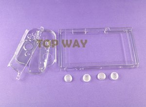Crystal Protector Clear Coque de protection pour coque dure Shuffproof Shell Joystick Grips Caps pour NS NX Switch