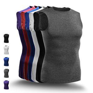 Basketball Hot Mode Hommes Gilets Compression Top Fitness Gym Courir Gilets T-shirt de sport masculins vêtements de vêtements de sport Jogger Plus Size