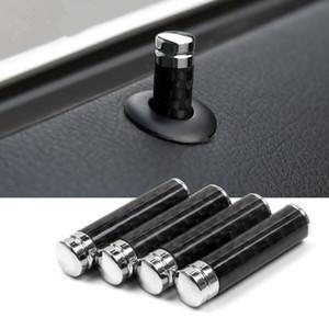 1 jeu fibre de carbone couvre la décoration de boulons de levage de porte de voiture garniture pour Mercedes Benz A B C E classe CLA GLA GLK ML GL GLC GLE GLS
