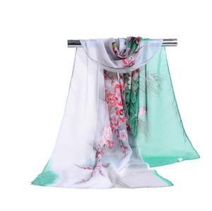 Fábrica al por mayor Womon marca de lujo estampado de flores bufanda de tinta Paiting patrón bufandas Sarongs playa moda bufanda 160 * 50 cm árabe hijab