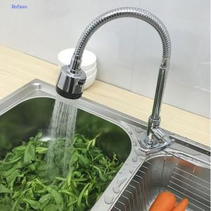 Venta al por mayor- Dofaso 360 resorte rotar grifos de cocina de latón torneira grifos de cocina flexibles para grifo de agua fría sola