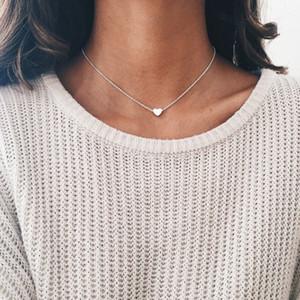 Ciondolo gioielli donna Collana girocollo in argento con catena in oro con cuore GF