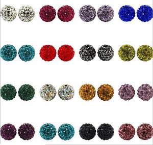 100PSC / LOT 10MM Shamballa foratura palla CZ Crystal Bead Collana perline Fai da te Accessori gioielli Spedizione gratuita