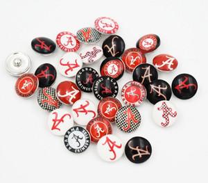 Université mixte ALABAMA NCAA verre bouton accrochage accessoires bijoux Diy style de mode bijoux femmes charme de pression