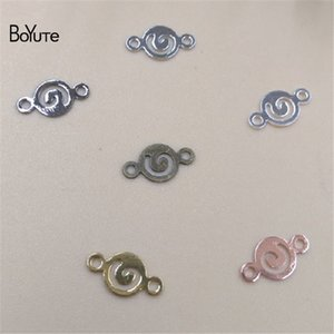 BoYuTe Jewelry Connector 1000Pcs 8.5MM HOT Sale Metal Latón Charm Bracelet Connectors for Jewelry Making