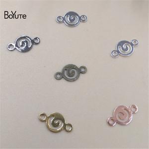 BoYuTe Schmuck Stecker 1000 Stücke 8,5 MM HEIßER Verkauf Metall Messing Charme Armband Anschlüsse für Schmuck machen
