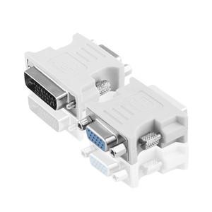 Yüksek kaliteli yüksek kaliteli DVI vga24 + 5-pin DVI VGA VGA bilgisayar grafik kartı ekran HD video adaptörü