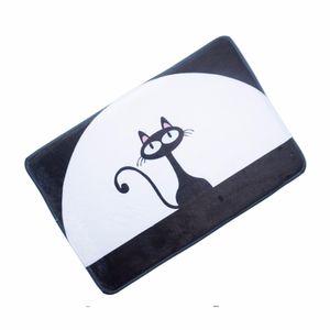 "Toptan-Karikatür kedi bellek köpük banyo paspasları kaymaz kilim 40x60 cm / 15.7 ""Wx23.6"" L"
