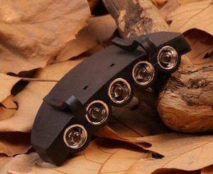 5 LED Luz Cap Luz Clip-On 5 LED Pesca Camping Luz principal farol Cap Com CR2032 300pcs baterias de célula CCA6551