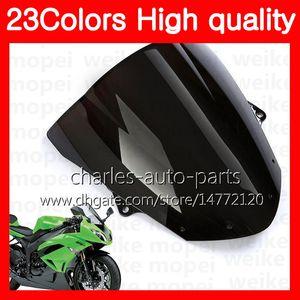 100% neues Motorrad Windschutzscheibe für Kawasaki ZX10R 11 12 13 14 15 ZX10R ZX10R 2011 2012 2013 2015 Chrome schwarz Klar Smoke Windschutzscheibe