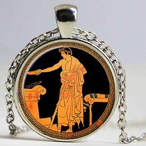 Grecia antigua collar Grecia antigua colgante mitos griegos joyería cúpula de cristal colgante collar