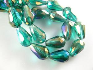 500PCS 8x12mm Teardrop Facettierte Kristallglas-lose Distanzscheiben-Korn-Fertigkeiten