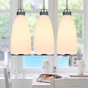 3pcs / set lampe suspension en verre moderne pendant minimaliste pendant lampes abat-jour en verre Restaurant créatif design moderne éclairage à la maison