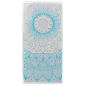 Transparente tpu capa para sony xperia xz case moda decoração da cor da bicicleta da torre borboleta menina pena design phone case