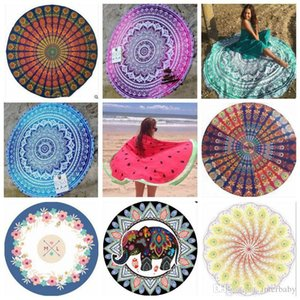 Bohemian Mandala Beach Tapestry Hippie Boho Throw Yoga Mat Beach Shawl Tablecloth Sarongs Bikini Cover Ups Beachwear Serviette Covers B2317
