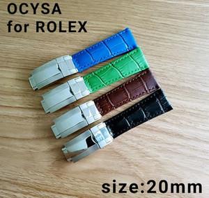 Correa de cuero genuino de la marca COYSA para los accesorios de las nuevas correas de reloj duraderas y blandas con hebilla de acero original