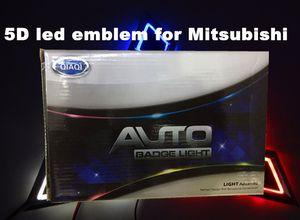 Emblema Logo 5D LED Car Emblem 12V Auto Styling Etiqueta Sinal Vermelho Branco Acessórios carro azul Tamanho 76x87mm Para Mitsubishi