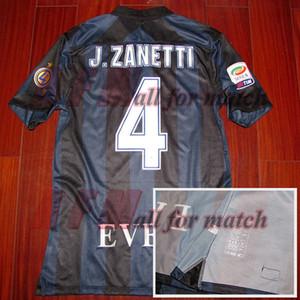 RUGBY 13/14 JC4 vez Zanetti Partido desgastado jugador Edición Camisa Jersey Mangas cortas Fútbol Rugby parches personalizados Patrocinador