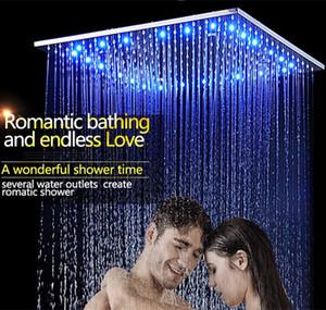3Jets LED 지능형 디지털 디스플레이 비 샤워 세트 벽에 설치 20 인치 스파 안개 강우 온도 조절 터치 패널 믹서
