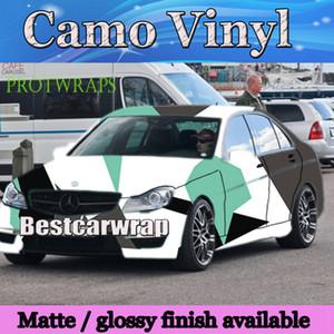 Las cubiertas grandes del abrigo del coche del vinilo de Camo del vinilo negro blanco de Tiffany con la película del camuflaje de Air Rlease Gloss / Matt que cubren el foile 1.52x 10m / 20m / 30m