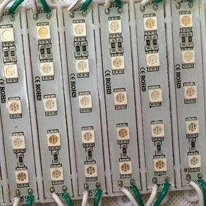 DC12V 5050 5 LEDs LED Modülleri IP65 su geçirmez Beyaz / Sıcak beyaz / Kırmızı / Yeşil / Mavi / sarı Ücretsiz Kargo