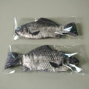 Kreative Fisch Form Aufbewahrungstasche Federmäppchen Lustige Stil Bleistifte Tasche Schulbedarf Schreibwaren Hot Pen Box Make-Up Aufbewahrungstasche