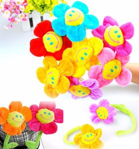 75см плюшевые солнечные клумбы висит мультфильм шторы пряжки цветы плюшевые игрушки цветы подсолнух цветок детские подарки