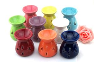 Seramik Parfümü Yağ ceramica Mum Lambalar Ücretsiz Kargo olarak Lavanta Aromaterapi Koku Mum Essential Hediye Olio yakıcılar