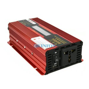 DHL 5PCS 1000W DC 12V to AC 220V Car Power Inverter LCD Display Solar Inverter Converter Modified Sine Adapter