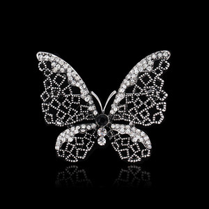 Atacado-2015 chegam novas mulheres jóias acessórios broche Vintage arma preta borboleta / libélula animal flor jóias broche pinos casamento