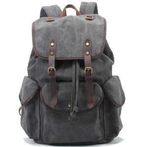 Zaini di design vintage uomini casual viaggiare tela mens zaino moda 2017 nuovo stile breve zaini scuola per gli uomini spedizione gratuita
