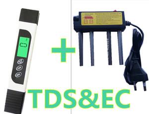 Misuratore di acqua digitale TDS Conductivity Tester EC Meter di temperatura + TDS Elettrolizzatore di acqua elettrolisi EUR EUR