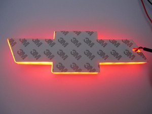 4D forchevro-let araba led amblem 170x55mm logo led ışık beyaz mavi kırmızı arka semboller rozetleri