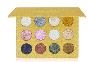 New Brand IMAGIC Makeup 12 Colors Golden Luster Eye Shadow Make-up Flash powder Eyeshadow Palette Free Shipping