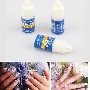 Wholesale-UV Gel Nail Art Nail Glue Decoration Tips 3 x 3g Fast Drying Acrylic Glue False French Manicure Nail Art Beauty Tools