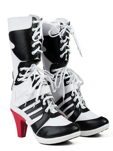 Kukucos Womens' High Heels Shoes Suicide Squad Harley Quinn Cosplay Boots Anime Shoes