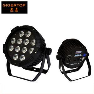 TIPTOP TP-P52 Chegada Nova 12x18W RGBWA UV 6in1 silencioso Led Light Par Não é impermeável IP20 Sem Trabalho de ruído latas de alumínio Caso Par