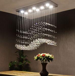 Simples retangular restaurante de moda, lustre, quarto moderno, atmosfera, sala de estar, lâmpada de cristal LLFA