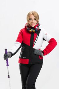 2016 Yeni Yürüyüş Ceket Kadınlar Su Geçirmez Tırmanma Açık Kamp Kamuflaj Ceket Snowboard Sking ceketler Lagre Boyutu